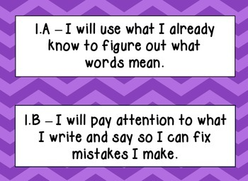 English Language Proficiency Standards (ELPS), Purple Chevron, Kid Friendly