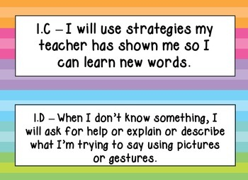 English Language Proficiency Standards (ELPS), Rainbow Stripe, Kid Friendly