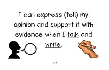 English Language Proficiency Standards Kid Friendly - 11x17 Size