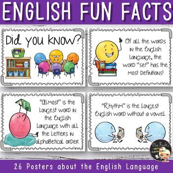 English Language Fun Facts Posters
