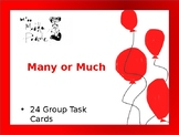 English Learner Many or Much Task Cards