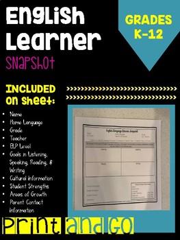 English Learner Snapshot