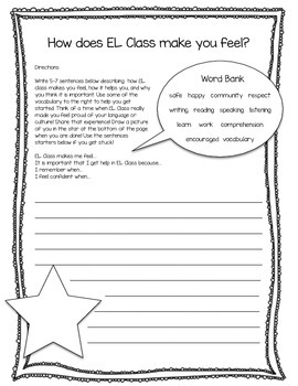 English Learner Writing Experience #5