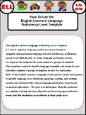 English Learners Language Proficiency Template
