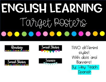 English Learning Target Posters