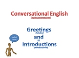 English Lesson - Greetings and Introductions (Esp)