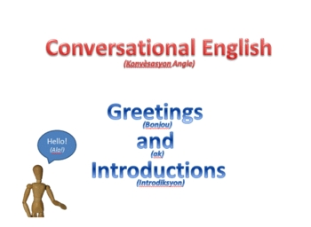 English Lesson - Greetings and Introductions (Ht)