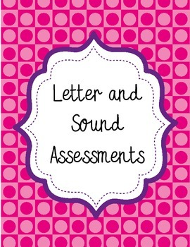 English Letter ID and Letter Sound Assessment Pack