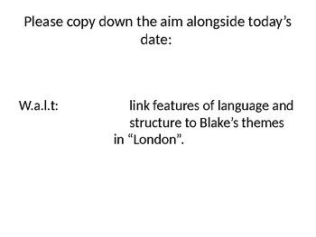 "English Lit, Poetry, GCSE, William Blake, ""London"" Close Reading, Analysis"