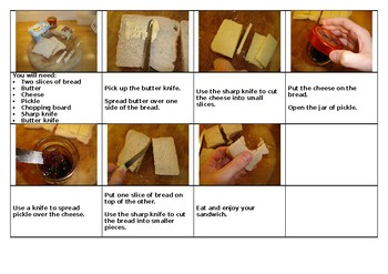 English / Literacy - How To Make A Sandwich (instructions)