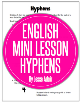 English Literacy Mini Lesson: Five Rules for Hyphens