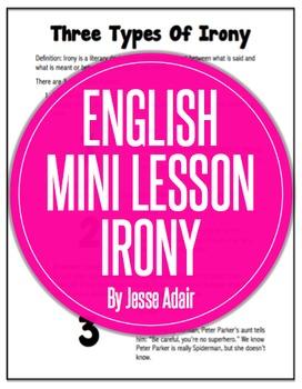 English Literacy Mini Lesson: Three Types of Irony