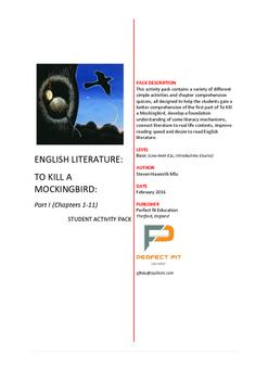 English Literature [Basic]: To Kill a Mockingbird Part 1