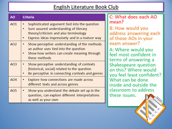 English Literature Book Club