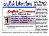 English Literature Diagnostic Test