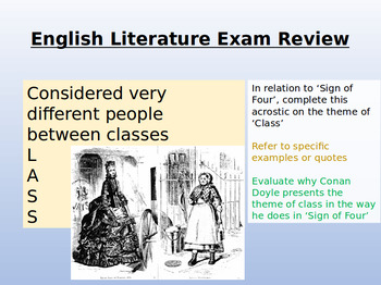 English Literature Revision - Sign of Four