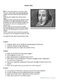 English Literature  - Sonnet XVIII_Shakespeare-Upper Levels