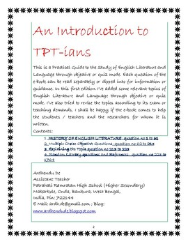 English Literature and Language through Objective and Quiz Mode