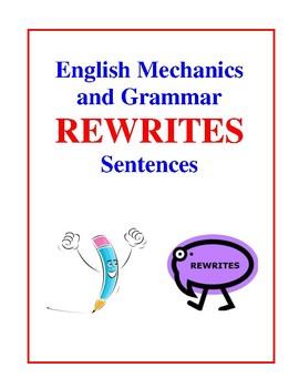 English Mechanics and Grammar Rewrites Sentence Activities