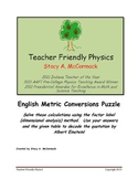 English Metric Conversions Puzzle