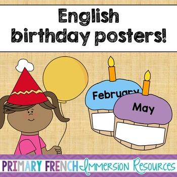 Birthday Posters - English
