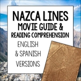 Nazca Lines Movie Guide and Reading Comprehension in English and Spanish