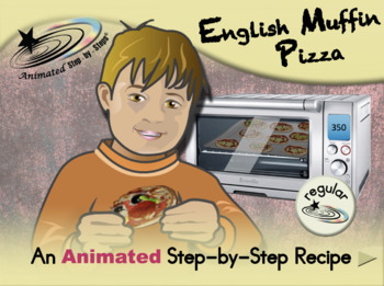 English Muffin Pizza - Animated Step-by-Step Recipe