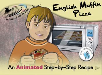 English Muffin Pizza - Animated Step-by-Step Recipe SymbolStix