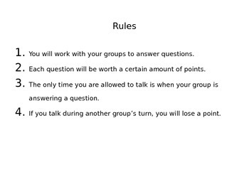 English Multiple Choice Review Game