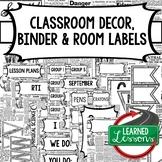 SECONDARY CLASSROOM DECOR, BINDER LABELS, Newspaper