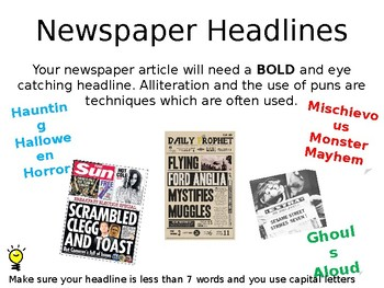 English Non-fiction writing- Features of a newspaper