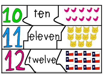 English Number Card Puzzles