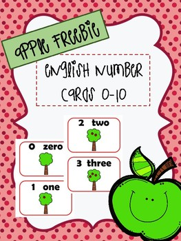 Apple Counting Cards 0-10 in Enlgish