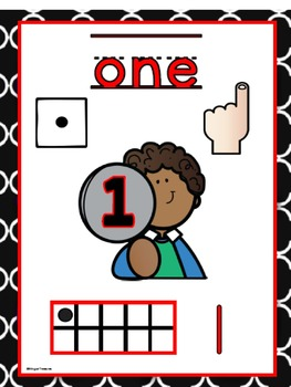 English Number Posters 1 to 20