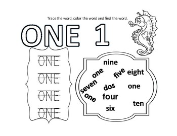 English Numbers 1-10