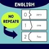 English Numbers Puzzles 0-99, plus simple printouts and wo