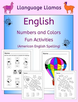 English: Numbers and Colors - Fun Activities for ESL, EAL, EFL