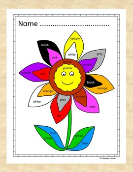 English: Numbers and Colours - Fun Activities (UK English)  for ESL, EAL, EFL