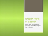 English Parts of Speech - Power Point
