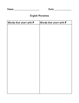 English Phonemes Student Workbook