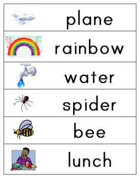 English Picture/Word Cards