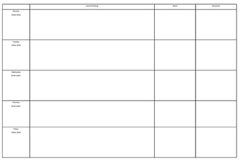 English Planners - Planning Documents - Literacy Planners - EDITABLE