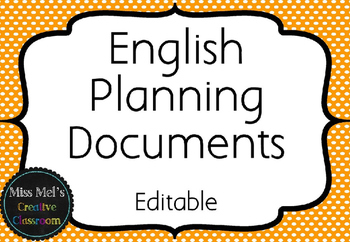 English Planners - Planning Documents - Literacy Planners