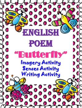 """Poetry English""""Monarch Butterfly"""" Imagery, Senses, Writing"""