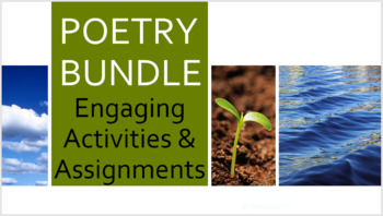 English POETRY BUNDLE Fun, Engaging, and Instructional Poetry Resources & Test