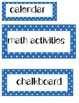 English Polka Dot Classroom Labels