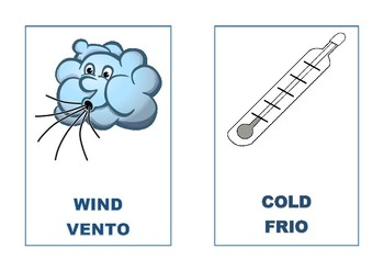 English Portuguese winter vocabulary flashcards