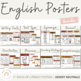 English Posters Bundle | BOHO VIBES | Desert Neutral Class