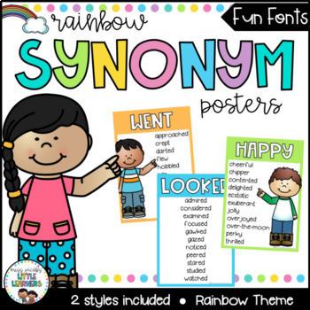 English Posters Bundle {Rainbow Theme} Reading and Writing Strategies