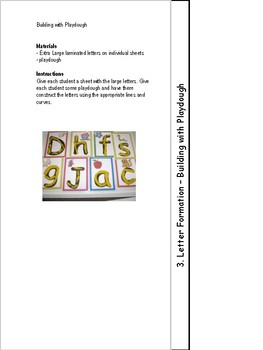English Pre-K Guided Reading Activities